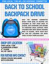 BACK TO SCHOOL BACK PACK DRIVE 2019