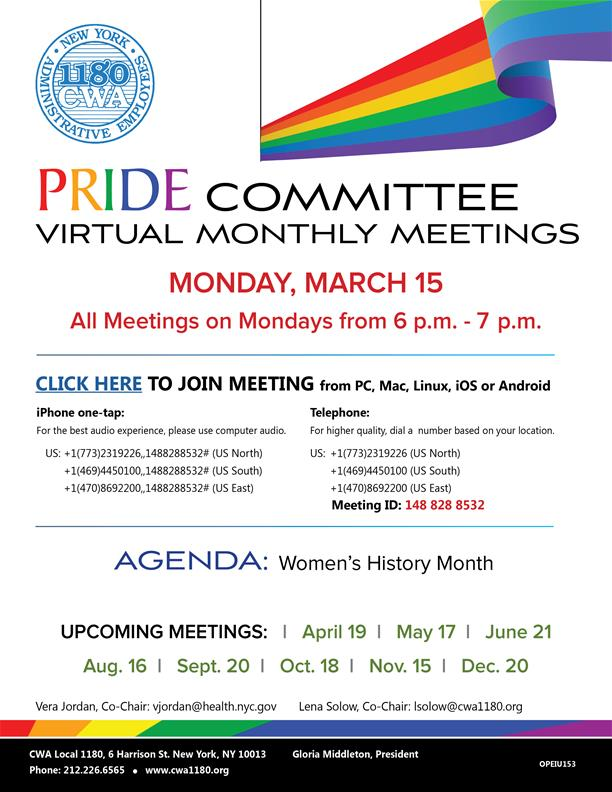 People With Disabilities Committee Virtual Meeting March 2021
